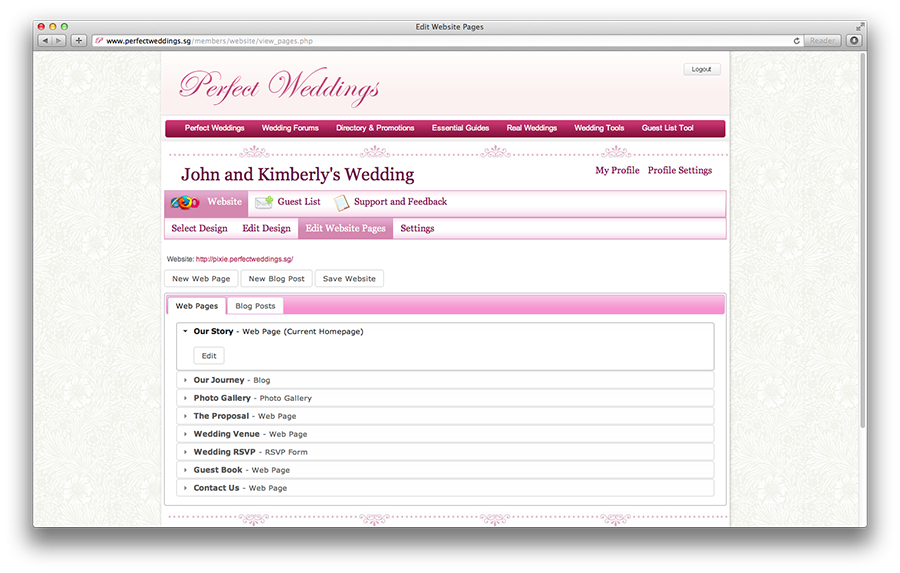 Invite Your Friends To Wedding Or Pre Party Via Email Facebook Them Rsvp On Website Page