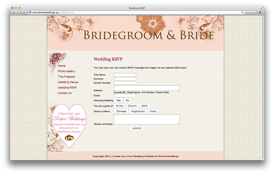 Rsvp Wedding Site
